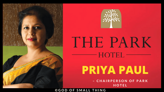 Priya Paul Chairperson of Park Hotel