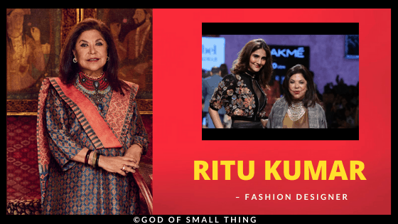 Ritu Kumar Fashion Designer