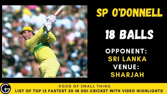 SP O'Donnell Fastest Fifty