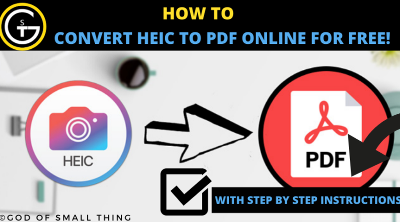 convert HEIC to PDF Online