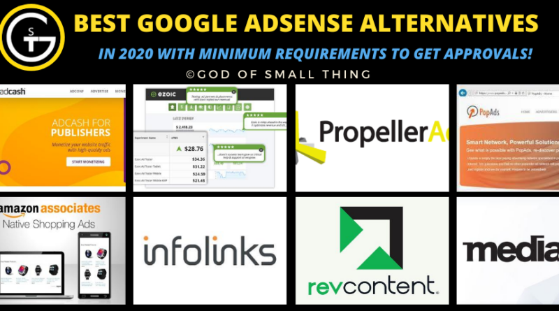 google adsense alternatives 2020
