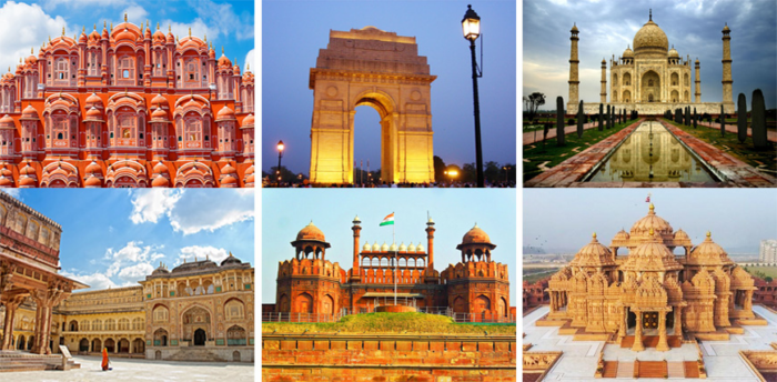 places to visit during Golden Triangle India Holidays