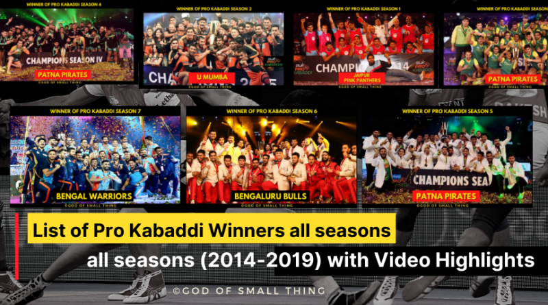List of Pro Kabaddi Winners