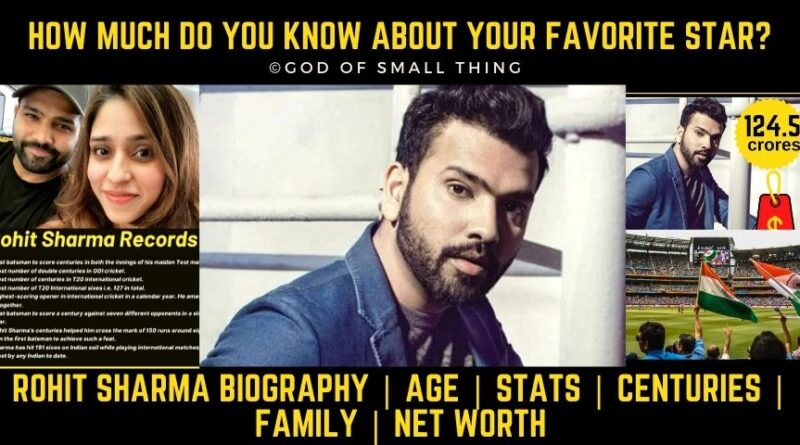Rohit Sharma Biography | Age | Stats | Centuries | Family | Net Worth