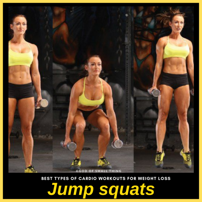 Jump Squats cardio workout for weight loss