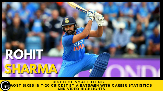 Rohit Sharma Most Sixes in t20