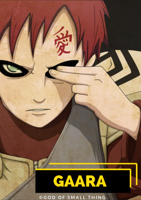 Gaara male anime characters
