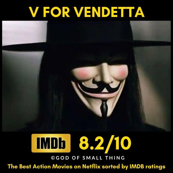 Best Action movies on Netflix V for Vendetta