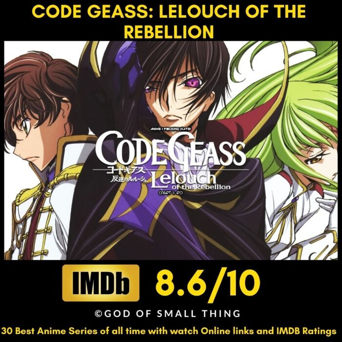 Best Anime of all Time Code Geass