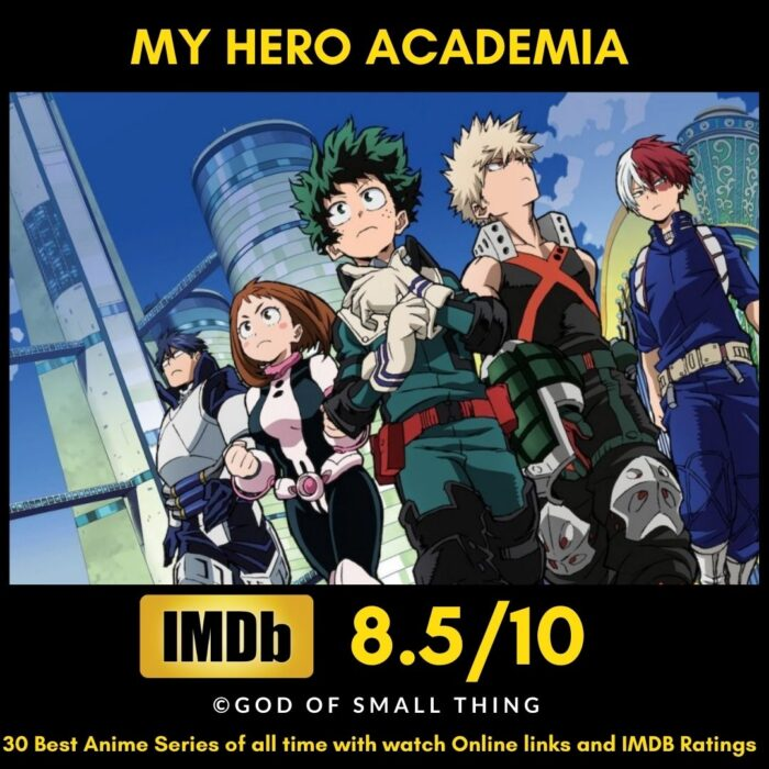 Best Anime of all Time My Hero Academia