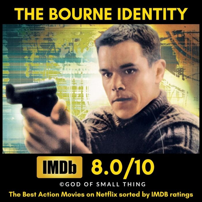 Best rated action movies on Netflix The Bourne Identity