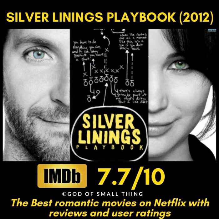 Best rated romantic movies on netflix Silver Linings Playbook