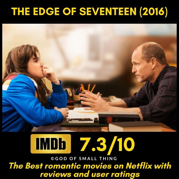 Best rated romantic movies on netflix The Edge of Seventeen