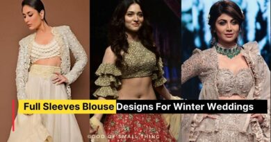 Full Sleeves Blouse Designs For Winter Weddings