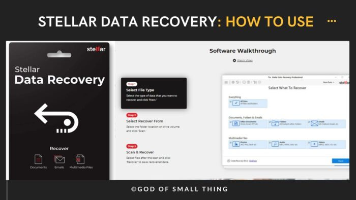 How to use stellar data recovery software