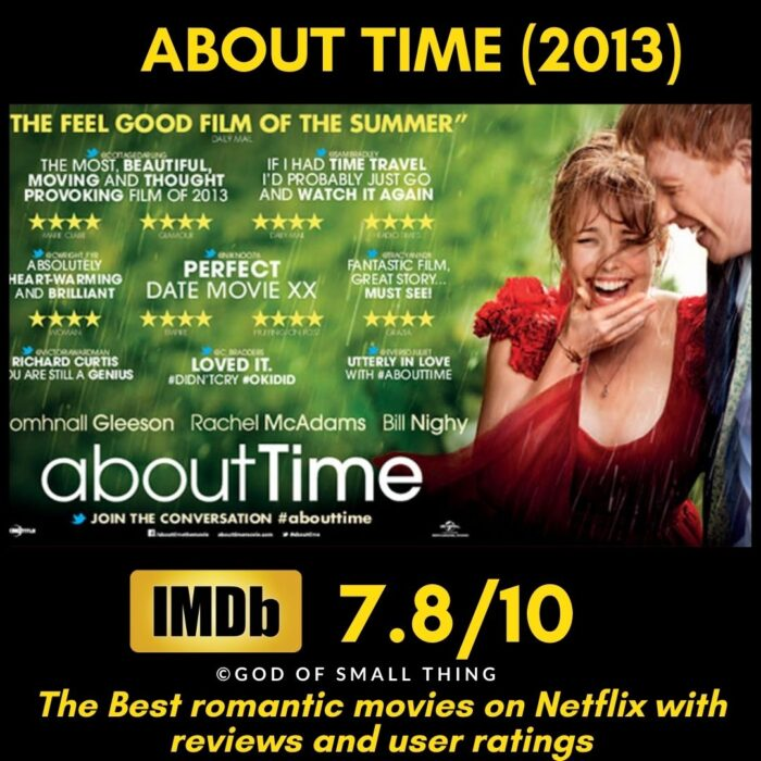 Romantic movies on Netflix About Time