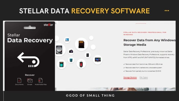 Stellar data recovery software Pros