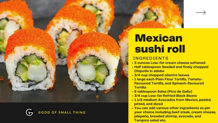 Mexican sushi roll Ingredients