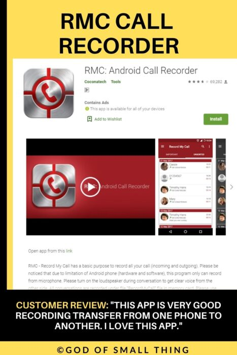 RMC call recorder call recording app