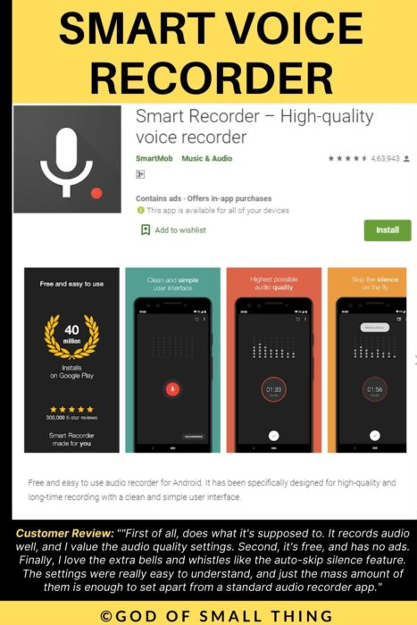 Smart voice recorder call recording app