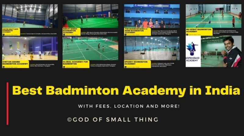 Best Badminton Academy in India