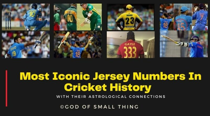 Jersey Numbers In Cricket