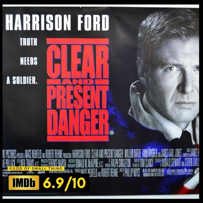 Best thriller movies on amazon prime: Clear and Present Danger