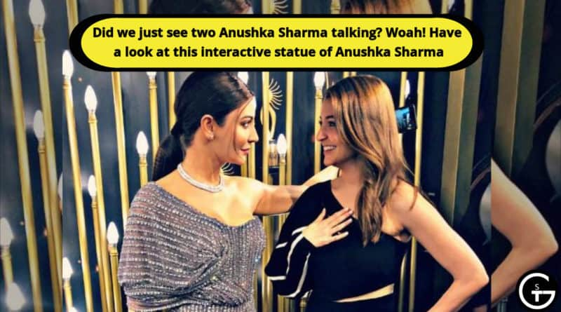 talking statue of anushka sharma