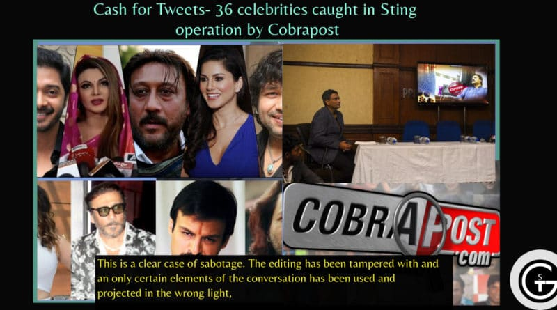 Cash for Tweets- 36 celebrities caught in Sting operation by Cobrapost