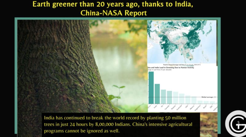 Earth greener than 20 years ago, thanks to India, China-NASA Report