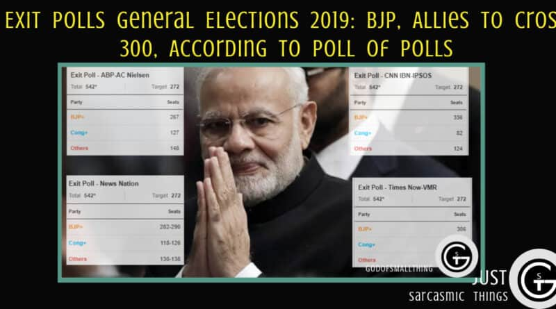 Exit Polls General Elections 2019: BJP, Allies To Cross 300, According To Poll Of Polls