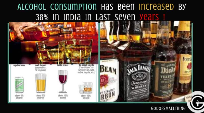 Do You know: Alcohol consumption has been increased by 38% in India in the last Seven years! God of Small Thing