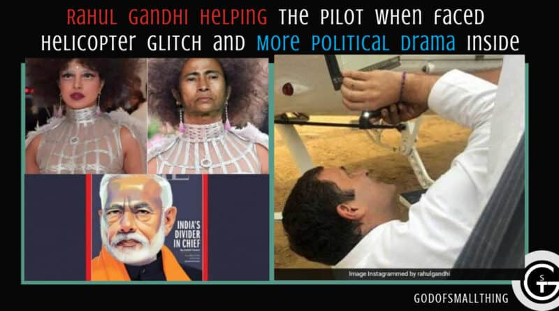 Rahul Gandhi helping the pilot when faced helicopter glitch and More political drama-Video Inside