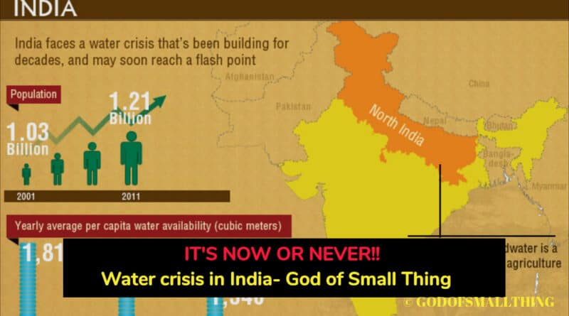 water crisis India- 40% of Indians will have no access to drinking water by 2030 - God of Small Thing