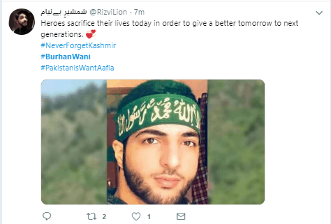 Twitter trends burhan wani as hero of Kashmir. Twitter Trends Burhan Wani hashtag on his 3rd Death anniversary