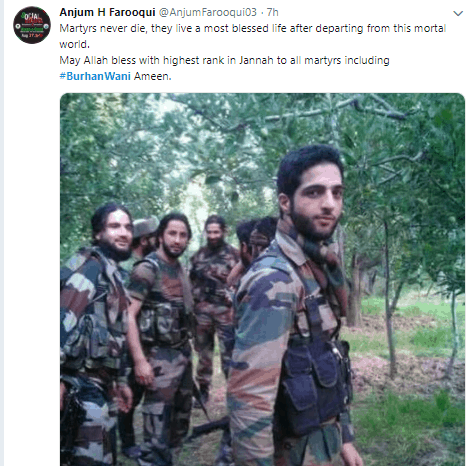 Twitter Trends Burhan Wani hashtag on his 3rd Death anniversary. Twitter trends burhan wani as hero