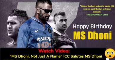 "Watch Video: ""MS Dhoni, Not Just A Name"" ICC Salutes MS Dhoni - God of Small Thing. Happy Birthday Dhoni:"