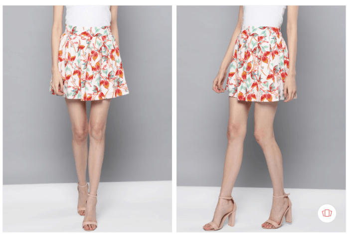 Gossip Girl Fashion: Buy off-white coral-red-printed-mini skirt from Myntra
