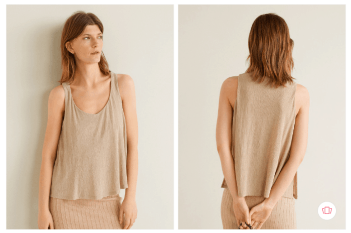 Fashion steals from Gossip Girl: The Mango women beige solid from Myntra: