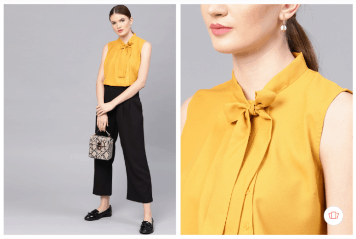 Fashion steals from Gossip Girl: mustard yellow top from Myntra