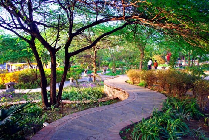 Best places to visit in Delhi with family:  Garden of five senses Delhi