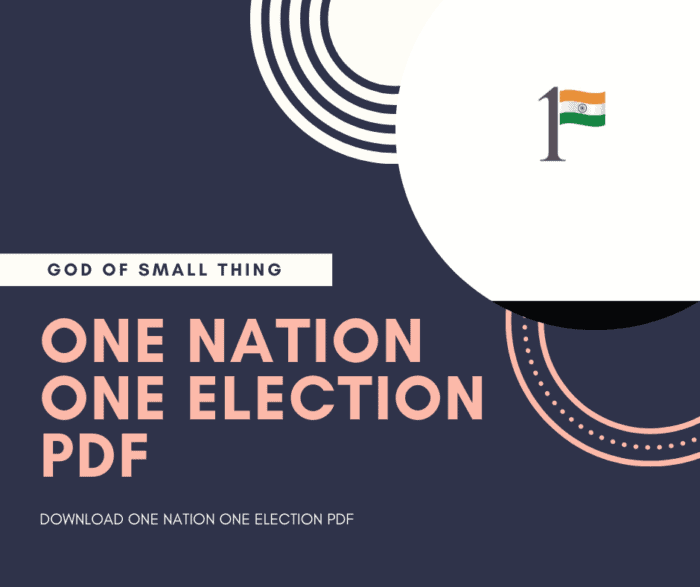 Download One nation one Election