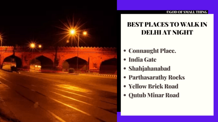 best places to walk in delhi at night
