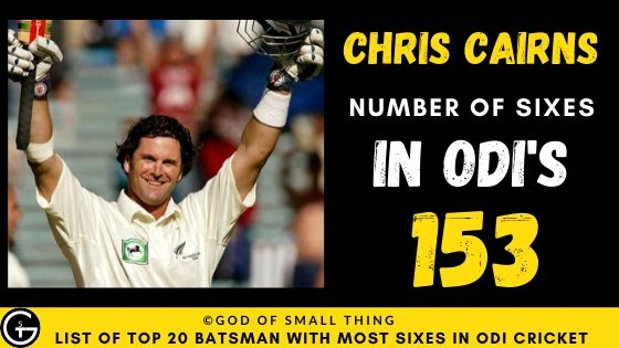 Number of Sixes by Chris Cairns
