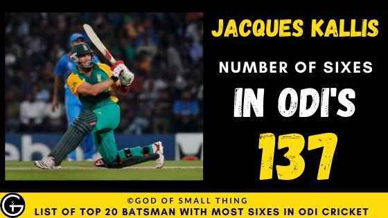 Number of Sixes by Jacques Kallis