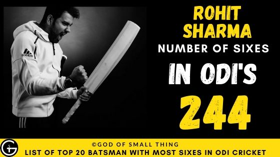 Number of Sixes by Rohit Sharma